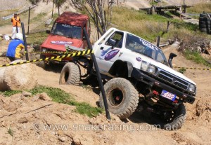 Snake Racing Toyota HiLux on track at 4x4 Masters Series, Eastern Creek International Raceway
