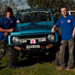 Tylor Veller and Suzuki Sierra in pits at Snake Racing sponsored 4x4 Masters Series
