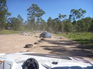 Snake Racing Polaris Ranger RZR Drivers view of Ringwood Khanacross track pre-run