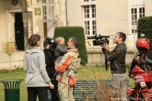 WorldRiderz Stephane meeting his family in France after the long journy