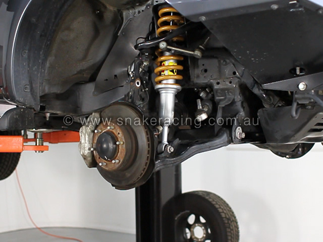 Tough Dog complete strut fitted to Toyota Hilux