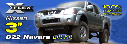 Nissan D22 Navara 3 inch suspension lift kit