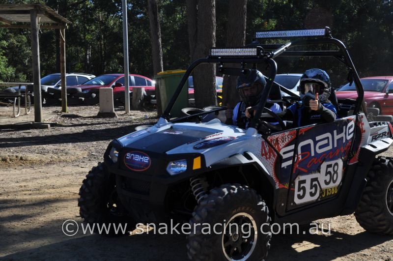 Krystal driving the Snake Racing Polaris RZR S at Awaba Khanacross hosted by Westlakes Automobile Club