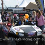 Snake Racing & Krystal Harden in Polaris RZR at 4WD & Adventure Show Sydney