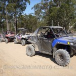 Polaris RZR RZRS and XP UTV lined up to race in CAMS NSW State Khanacross Round 6