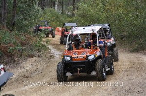 CAMS UTV G Class Polaris RZR and XP 900 pre run in khanacross rally racing