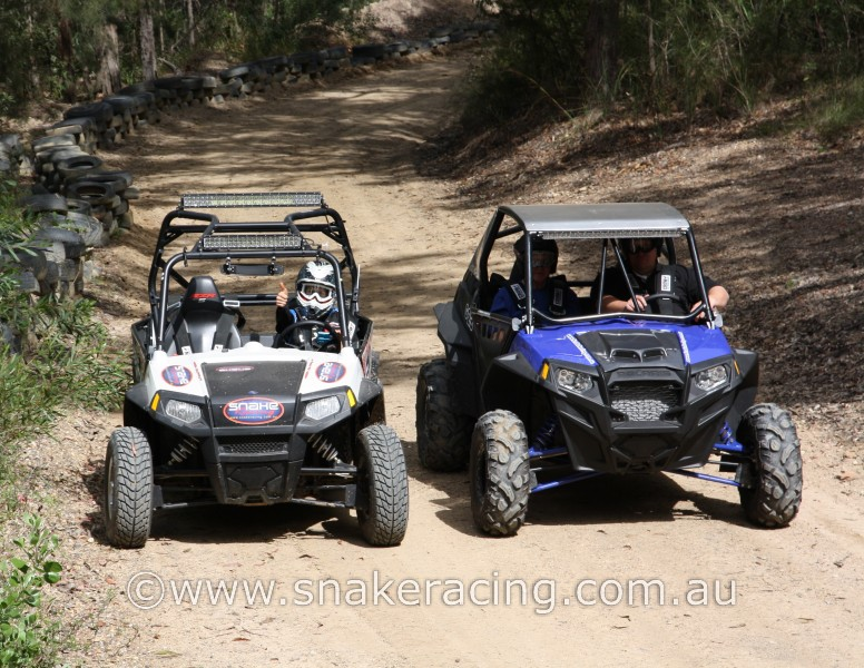 Krystal Harden in Snake Racing Polaris RZR S and XP at Westlakes Khanacross