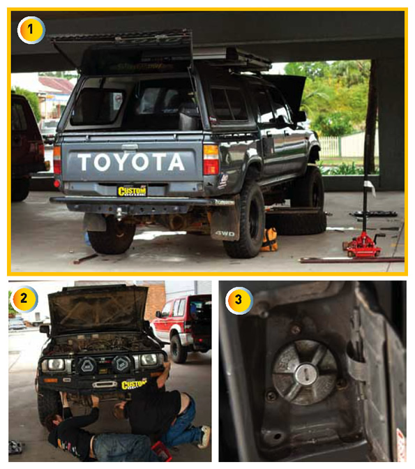 land rover discovery body lift. hilux undergoing a body lift land rover discovery