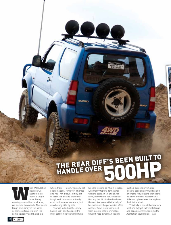 Suzuki Jimny 'Out of Nowhere' Australian 4WD Action Article - Snake