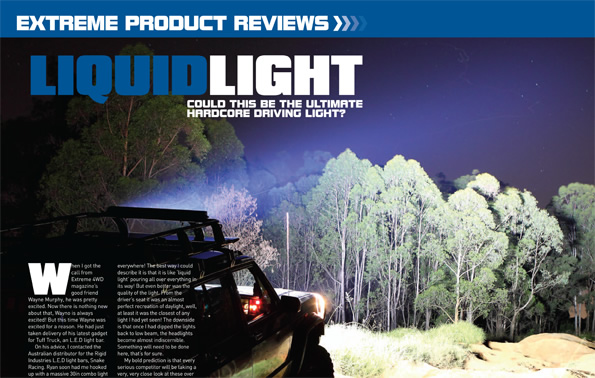 Led light bar liquid light extreme 4wd action product review led light bar liquid light product review article aloadofball Images