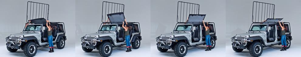 Jk Jeep Roof Racks For 2 And 4 Door Jk Square Back Snake